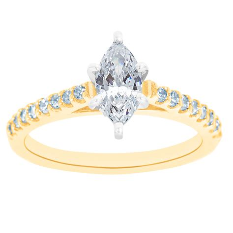 new york city diamond district 14k two tone marquise