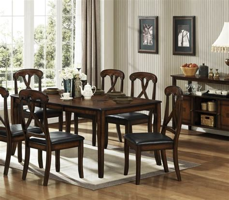 homelegance kinston 8 dining room set in distressed