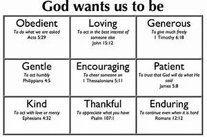 Godly Character Chart Bible For Kids Bible Lessons