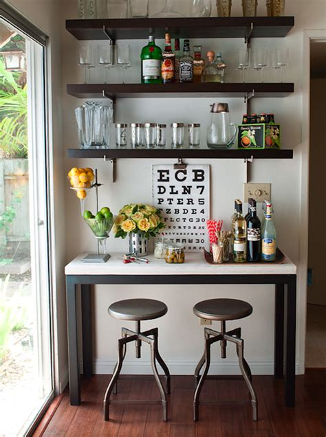 Home Bar Decor by Console Table Bar Design Ideas