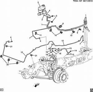2004 Chevrolet Suburban Base Bolt  Brake Hose  Hydraulic