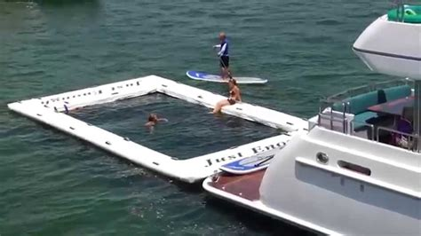 Yacht Videos by Freestyle Cruiser Inflatable Water Slide For Yachts Video