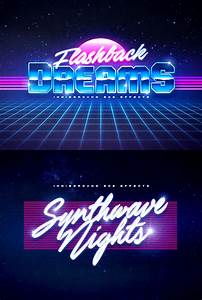 80s, Vintage, Text, Effects