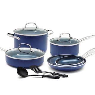 food network  pc nonstick ceramic copper cookware set null ceramic nonstick cookware