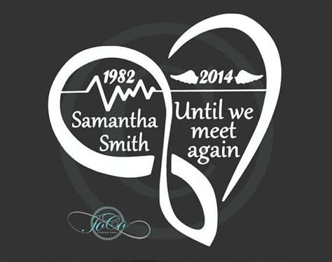 Until We Meet Again Infinity Vinyl Decal