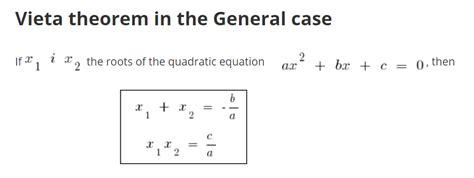 vieta theorem   Quadratics, Quadratic equation, Theorems