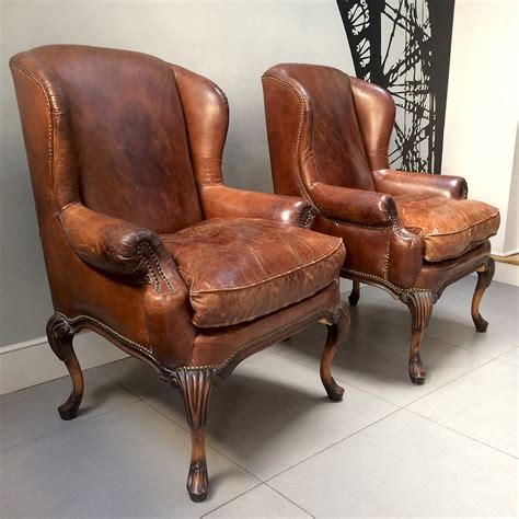 leather club chairs napoleonrockefeller collectables vintage and 6888