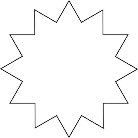 printable starburst template