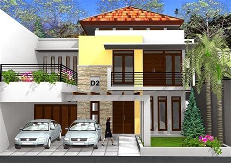 desain rumah modern dua lantai