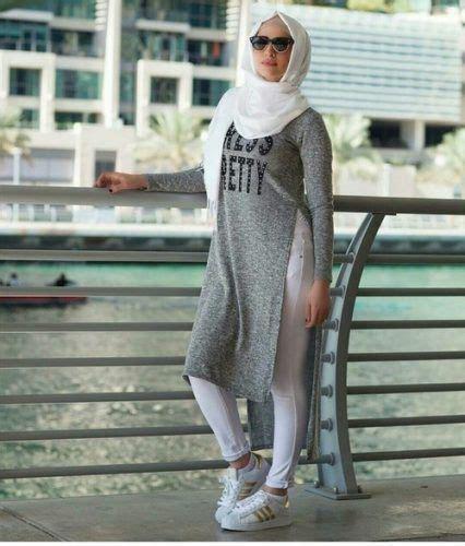 ideas  casual hijab styles  pinterest