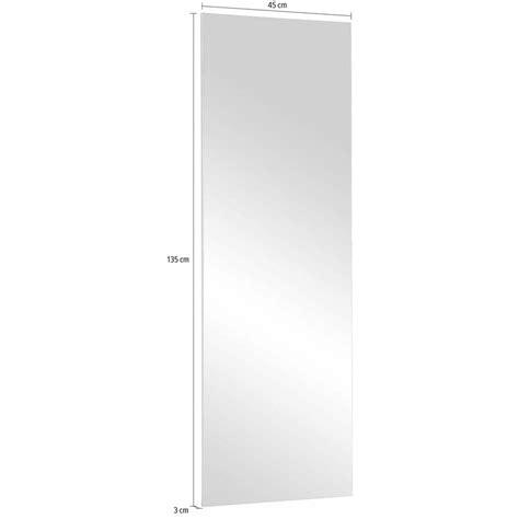 miroir biseaute sans cadre miroir mural rectangulaire sans cadre largeur 123 cm blanc autres mobilier 3suisses