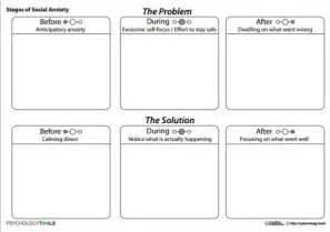 Social Anxiety Worksheets