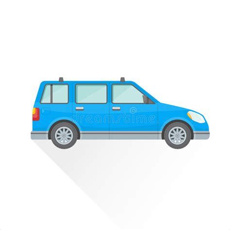 Vector Flat Blue Wagon Car Body Style Illustration Icon