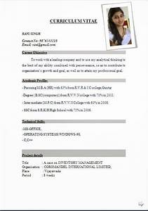international resume format free download resume format With cv free download