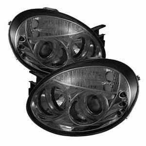 Dodge Neon 2003 2005 Smoked Halo Projector Headlights