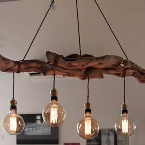 Lustre En Bois : lustre en bois id e de luminaire et lampe maison ~ Teatrodelosmanantiales.com Idées de Décoration