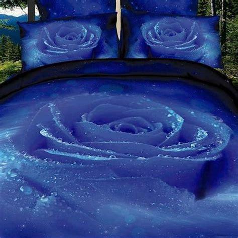 blue rose bedding