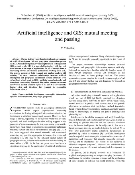 (PDF) Artificial Intelligence and GIS: Mutual Meeting and