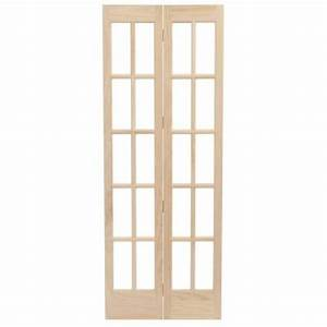 pinecroft 32 in x 80 in classic french glass wood With home depot interior french door