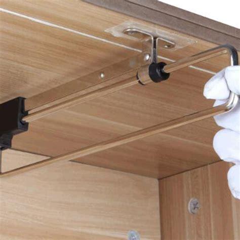 telescopic rail pull  wardrobe clothes hanger cm