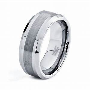 mens 8mm tungsten wedding band brushed carbide custom With unique tungsten wedding rings