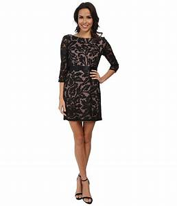 Adrianna Papell 3/4 Sleeve Embroidered Lace Cocktail Dress ...