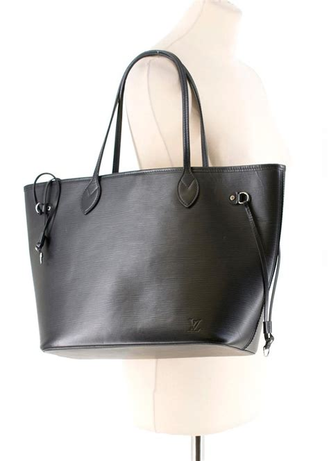 louis vuitton black neverfull mm tote bag  stdibs