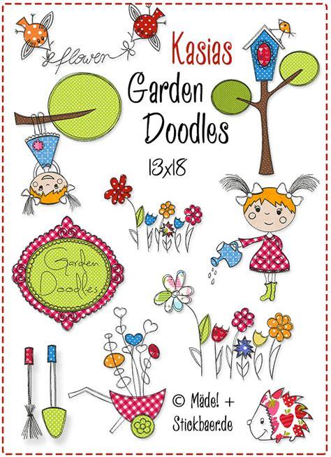 der stickbaer kasias garden doodles  stickmuster