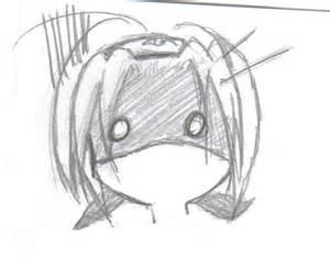 Chibi Anime Scared Expression