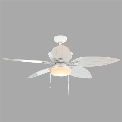 white crystal ceiling fan home decorators collection palm cove 52 in led indoor