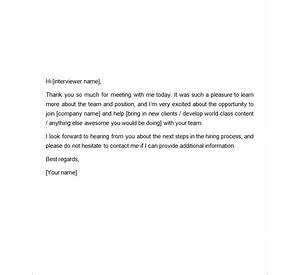 88 Thank You Letter After Second Interview Sample
