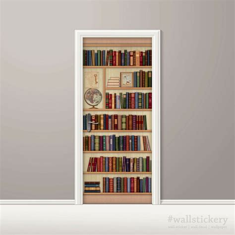 bookshelf mural bookshelf wallpaper door mural globe photo poster wall