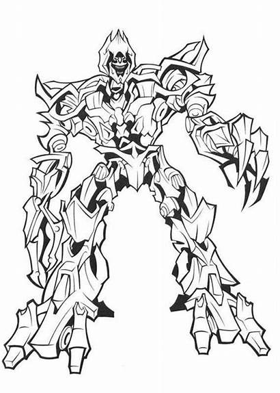 Transformers Coloring Megatron Pages Evil Colouring Master