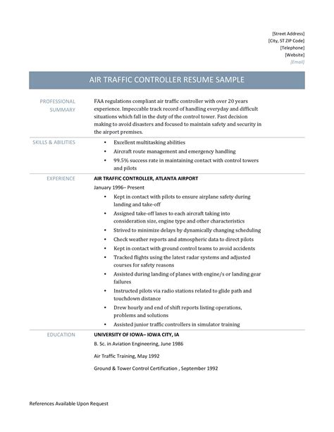 faa air traffic controller cover letter meeting plan template