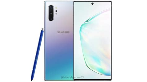 samsung galaxy note 10 aura samsung galaxy note 10 galaxy note 10 aura glow colour variant leaked with blue s pen