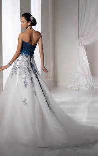 white dress wedding white and blue wedding dress a trusted wedding source by dyal net