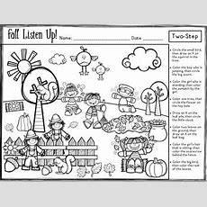 Fall Listen Up! Following Directions Freebie By Panda Speech Tpt