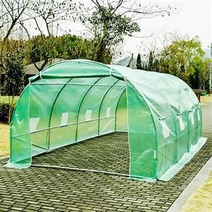 Serre Tunnel De Jardin : homcom serre de jardin tunnel zincage tente bache 6x3x2 ~ Melissatoandfro.com Idées de Décoration