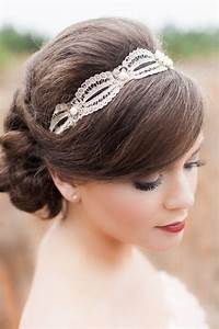 Bridal Bang Hairstyle with Braid Bun and Head Pieces Ideas Designers Outfits Collection