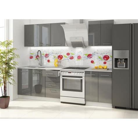 meuble cuisine complet vancouver cuisine complète 180 cm laquée gris achat