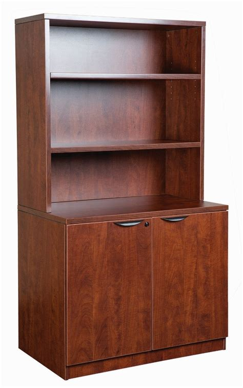 Office Furniture Cabinets by Open Hutch With Locking Storage Cabinet Omni Office