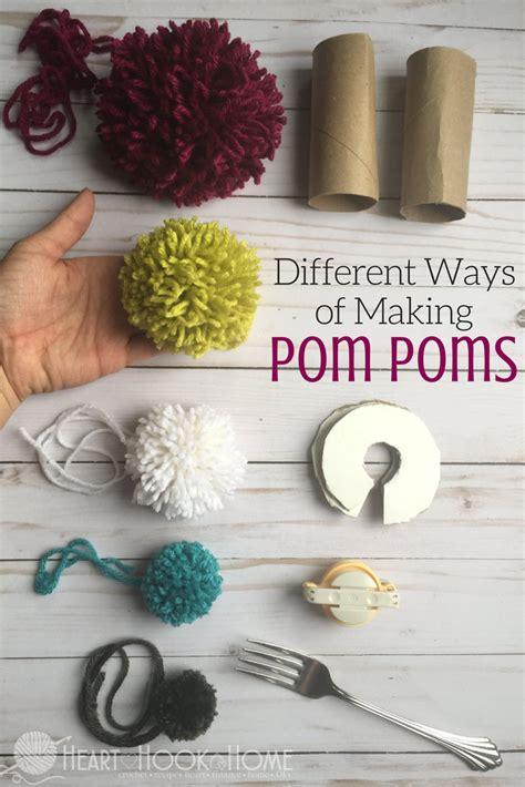 Different Methods Of Making Pom Poms