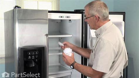 refrigerator maintenance changing ice water filter ge