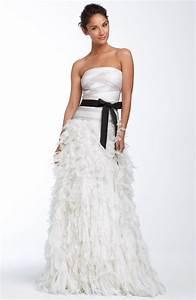 glam strapless a line tadashi shoji wedding dress with With tadashi shoji wedding dresses