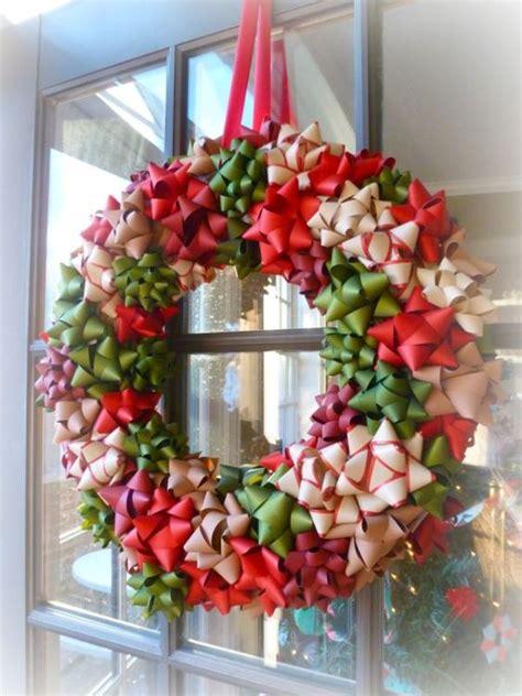 do it yourself wreath christmas wreaths made from ribbons and bows christmas do it yourself