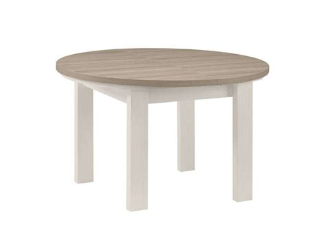 table ronde toscane coloris ch 234 ne gris et fr 234 ne blanchi conforama