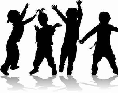 Dancing Transparent Silhouette Dance Children Library Clipart