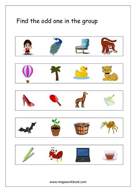 odd   aptitude kindergarten worksheets logical