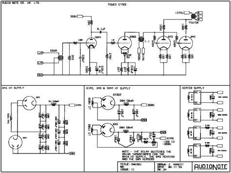 of schematics by brand audio note ankoru