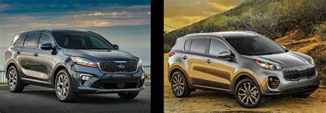kia jeep 2020 2019 kia sorento vs 2019 kia sportage comparison